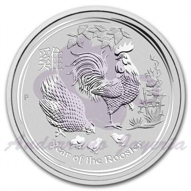 Moneda de Plata Año del Gallo 2017 1 oz