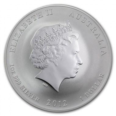 Moneda de Plata Año del Dragón de Australia 2012 1 oz