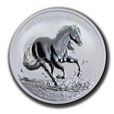 Moneda de Plata Brumby de Australia 2020 1 oz