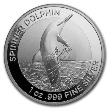 Moneda de Plata Delfín Del Hilandero de Australia 2020 1 oz
