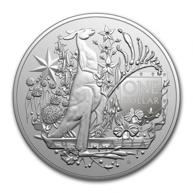 Moneda de Plata Escudo de Armas de Australia 2021 1 oz