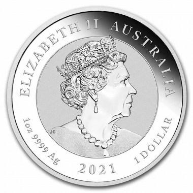 Moneda de Plata Mitos y leyendas de Australia: Dragón 2021 1 oz