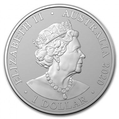 Moneda de Plata Tigre de Sumatra de Australia 2020 1 oz