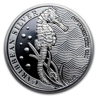 Moneda de Plata Caballito de Mar de Barbados 2020 1 oz