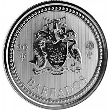 Moneda de Plata Tridente de Barbados 2020 1 oz