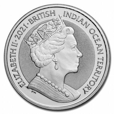 Moneda de Plata Cutty Sark de BIOT 2021 1 oz