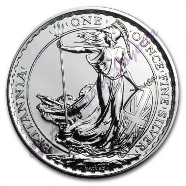 Moneda de Plata Britannia 1 oz años varios