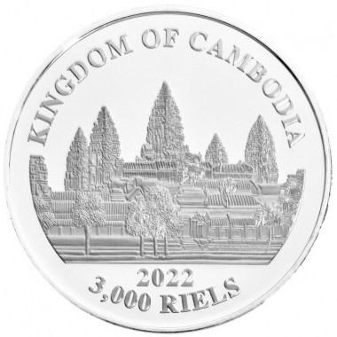 Moneda de Plata Lost Tigers de Camboya 2022 1 oz