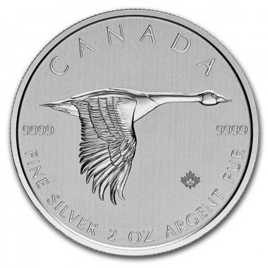 Moneda de Plata Ganso de Canadá 2020 2 oz