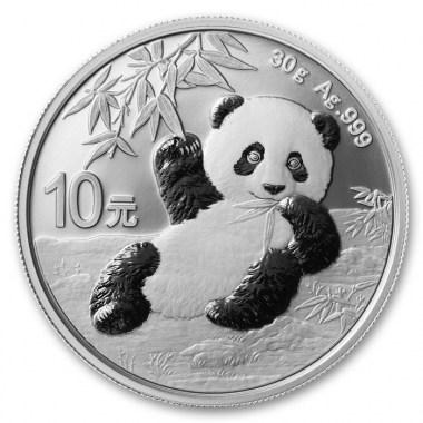Moneda de Plata Panda de China 2020 30 g