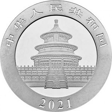 Moneda de Plata Panda de China 2021 30 g