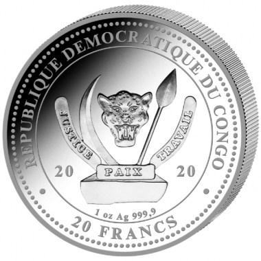 Moneda de Plata Ballena de Congo 2020 1 oz
