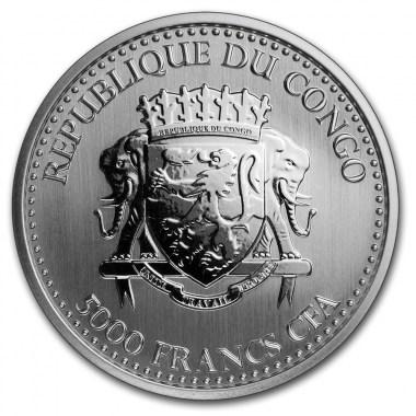 Moneda de Plata Gorila de Congo 2019 1 oz