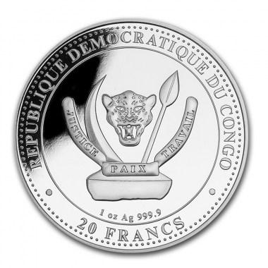 Moneda de Plata Mamenchisaurus de Congo 2020 1 oz