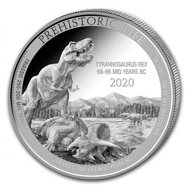 Moneda de Plata Tyrannosaurus Rex Congo 2020 1 oz de Plata