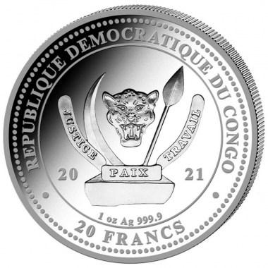 Moneda de Plata World´s Wildlife Águila Calva del Congo 2021 1 oz