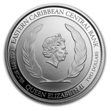 Moneda de Plata Loro Sisserou de Dominica 2019 1 oz