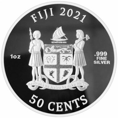 Moneda de Plata Gatos de Fiyi 2021 1 oz