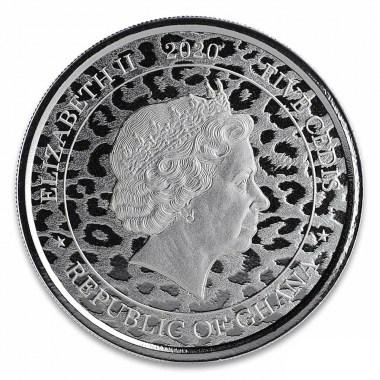 Moneda de Plata Leopardo de Ghana 2020 1 oz