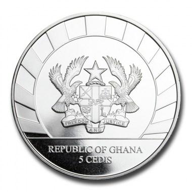 Moneda de Plata Oso de las Cavernas de Ghana 2020 1 oz
