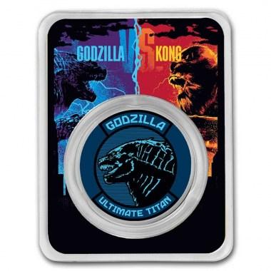 Moneda de Plata Godzilla Colorized 2021 1 oz