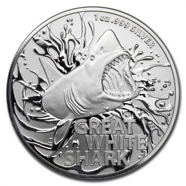 Moneda de Plata Gran Tiburón Blanco 2021 1 oz