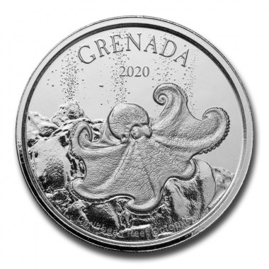 Moneda de Plata Pulpo de Granada 2020 1 oz