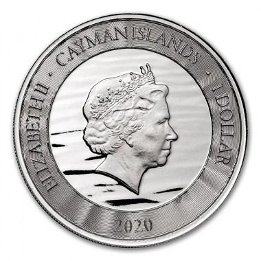 Moneda de Plata Marlín de Islas Caimán 2020 1 oz
