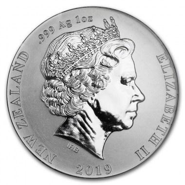 Moneda de Plata Kiwi de Nueva Zelanda 2019 1 oz