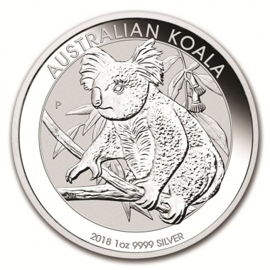Moneda de Plata Koala 2018 1 oz