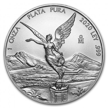 Moneda de Plata Libertad de México 2020 1 oz