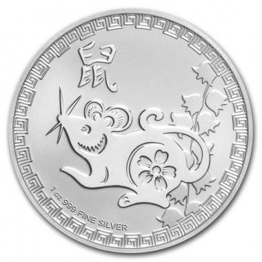 Moneda de Plata Año de la Rata de Niue 2020 1 oz