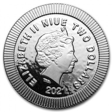 Moneda de Plata Búho ateniense de Niue 2021 1 oz