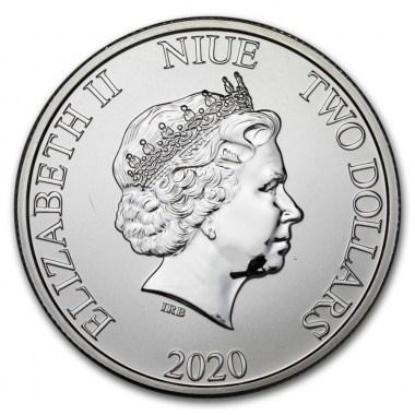 Moneda de Plata Disney Mickey Mouse Navidad de Niue 2020 1 oz