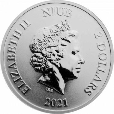Moneda de Plata Disney Mickey Mouse y Goofy de Niue 2021 1 oz