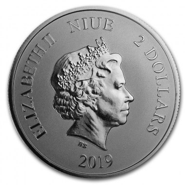 Moneda de Plata El Dragón Verde de Niue 2019 1 oz
