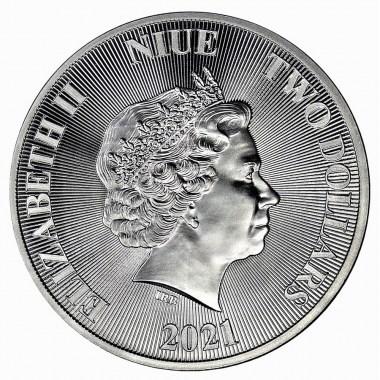 Moneda de Plata León Rugiendo de Niue 2021 1 oz