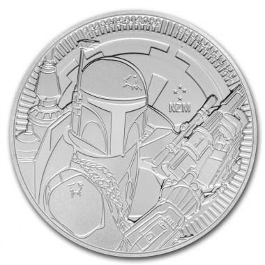 Moneda de Plata Star Wars Boba Fett de Niue 2020 1 oz