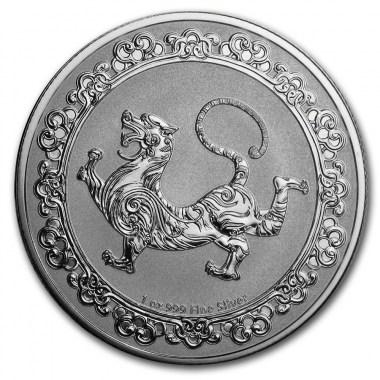 Moneda de Plata Tigre Celestial de Niue 2019 1 oz