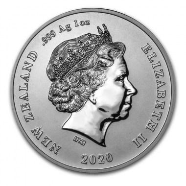 Moneda de Plata Pingüino Crestado de la Isla Chatham 2020 1 oz