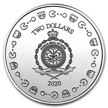Moneda de Plata Pac-Man 40 Aniversario 2020 1 oz