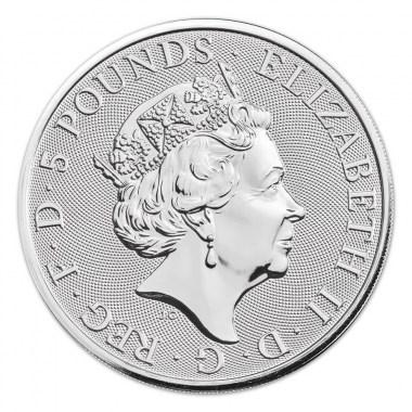 Moneda de Plata Queen's Beasts The White Greyhound 2021 2 oz