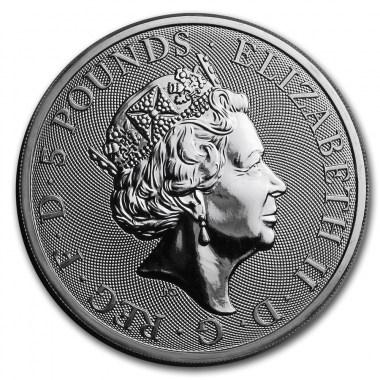 Moneda de Plata Queen's Beasts The White Lion 2020 2 oz