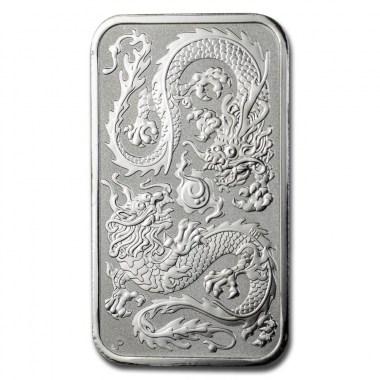 Moneda de Plata rectangular Dragón 2020 1 oz