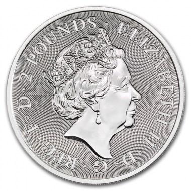 Moneda de Plata Valiant de Reino Unido 2019 1 oz