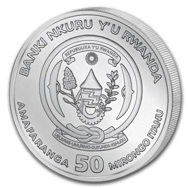 Moneda de Plata Año Lunar de la Rata de Ruanda 2020 1 oz