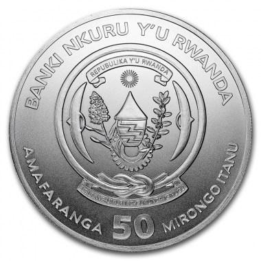 Moneda de Plata Pájaro Picozapato de Ruanda 2019 1 oz