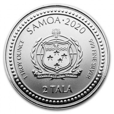 Moneda de Plata Caballito de Mar de Samoa 2020 1 oz