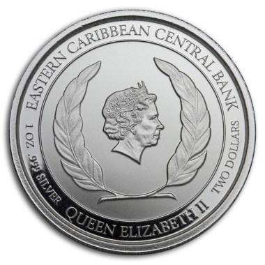 Moneda de Plata Brimstone Hill de San Cristóbal y Nieves 2020 1 oz