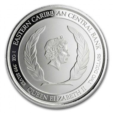 Moneda de Plata Pelícano de San Cristóbal y Nieves 2019 1 oz